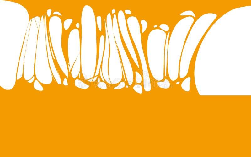 Śluzowacieje kleistego pomarańczowego miodowego sztandar, spittle, glut Rama straszny żywy trup, obcy szlamowy Kreskówki mieszkan ilustracji