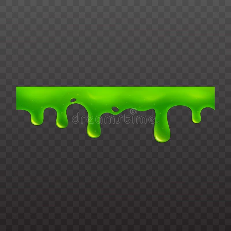 Śluzowacieje lub lepidło kleista toksyczna ciekła wektorowa ilustracja odizolowywająca na białym tle ilustracji