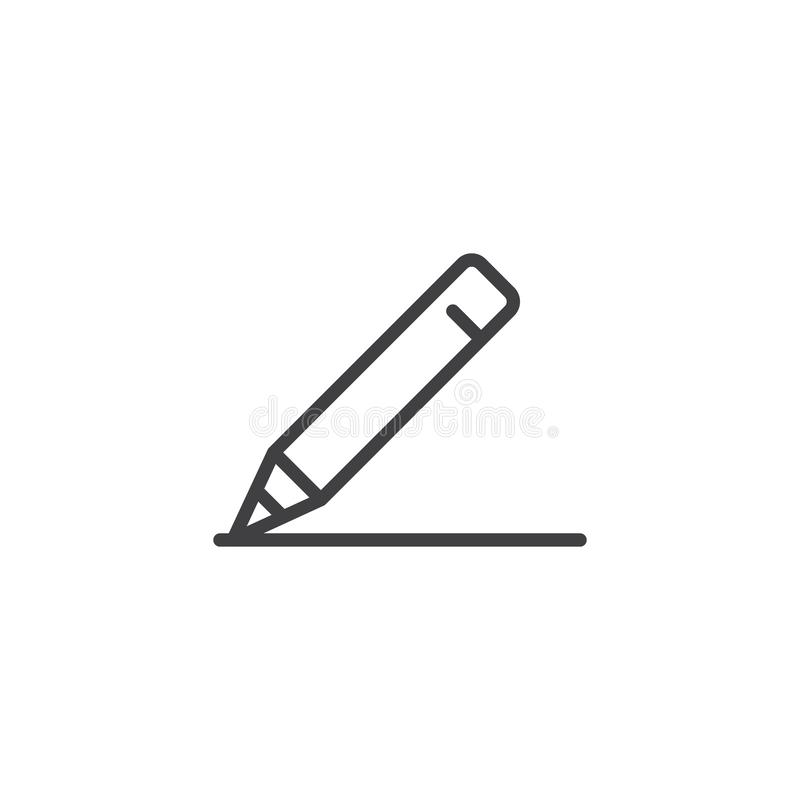 Śmiała ołówek linii ikona royalty ilustracja