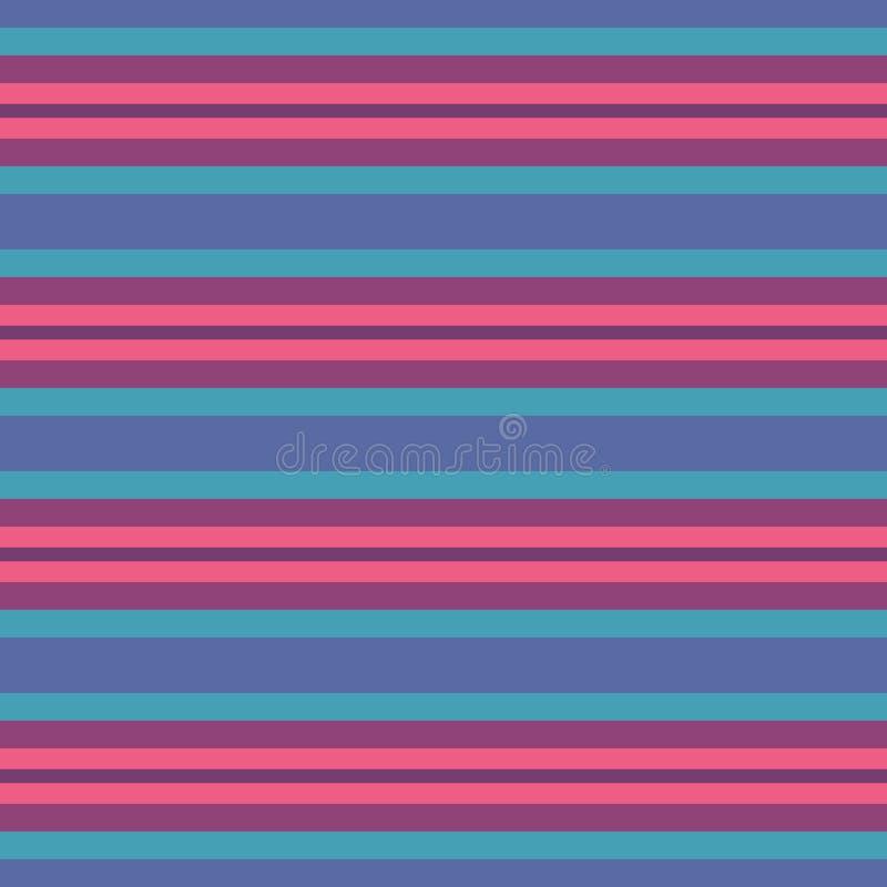 Śmiały abstrakcjonistyczny wektorowy multicolor geometryczny bezszwowy wektoru wzór Wibrujący horyzontalny lampasa tło napoj?w il royalty ilustracja