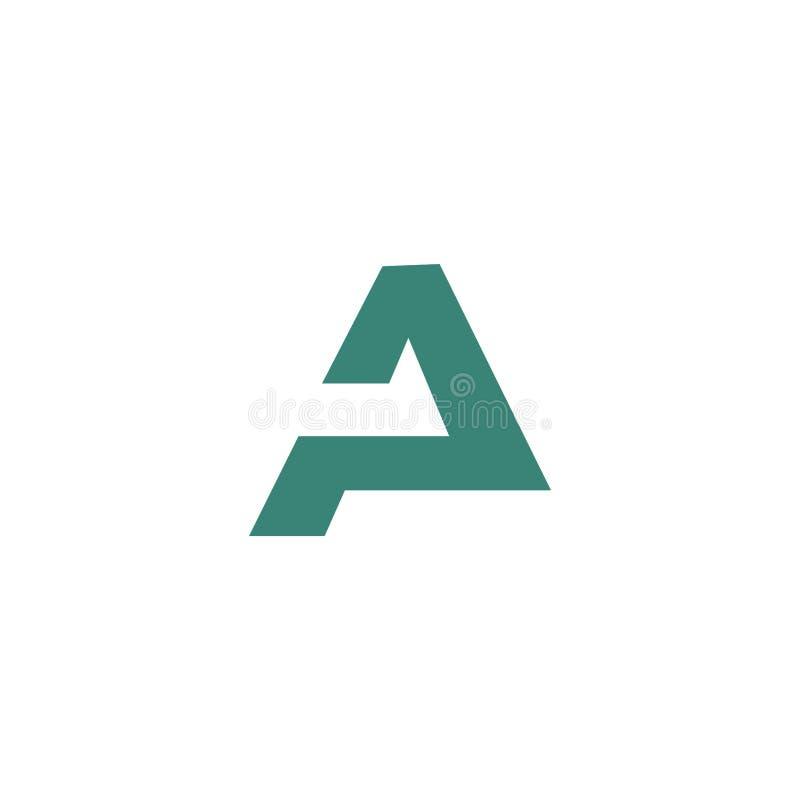Śmiały list abstrakcjonistyczny symbol ilustracja wektor