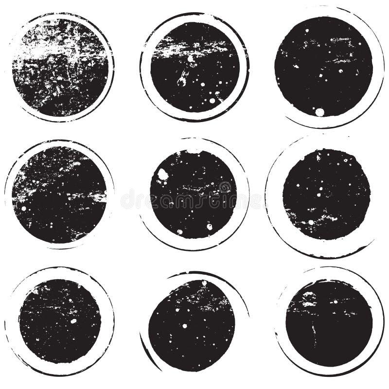 Śmiały znaczka set royalty ilustracja