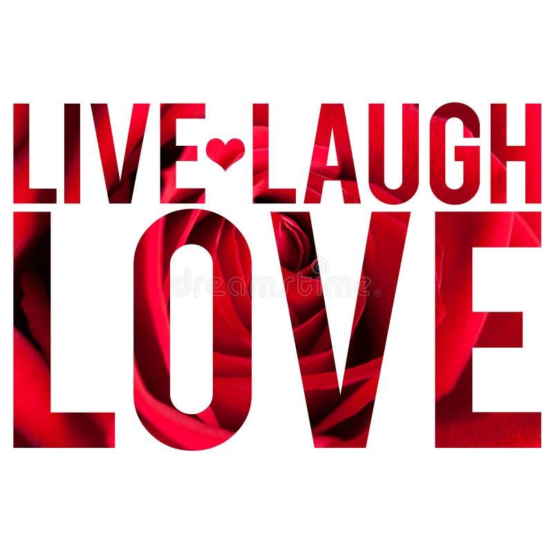 śmiech żyje miłość ilustracja wektor