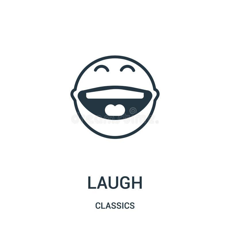 śmiech ikony wektor od klasyków inkasowych Cienka kreskowa śmiechu konturu ikony wektoru ilustracja Liniowy symbol ilustracja wektor