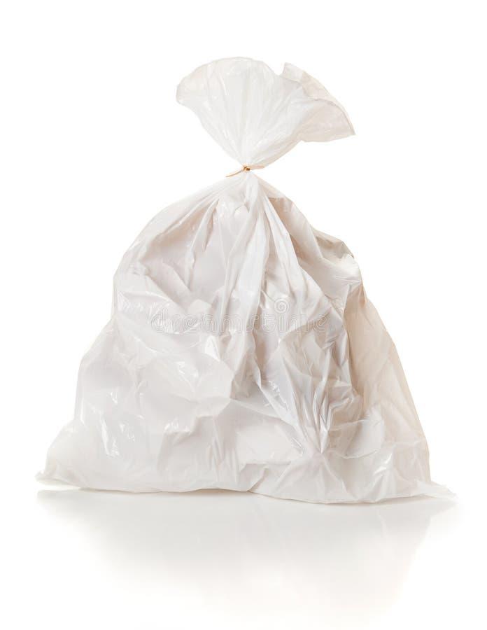Śmieci: Pełny torba na śmiecie Wiążący Zamykającym fotografia stock
