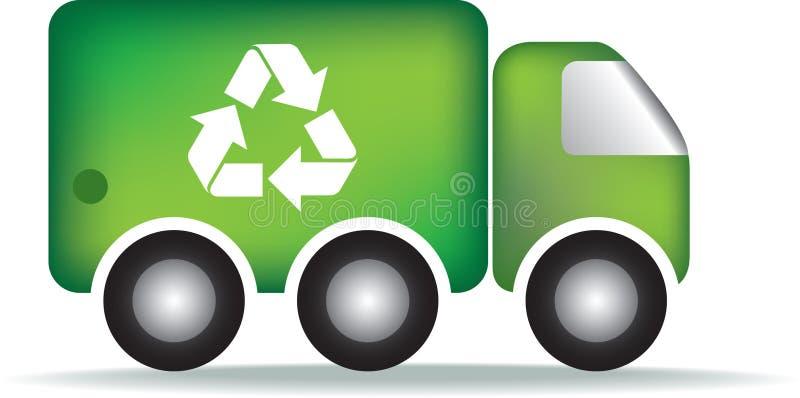 śmieci przetwarza ciężarówkę ilustracja wektor