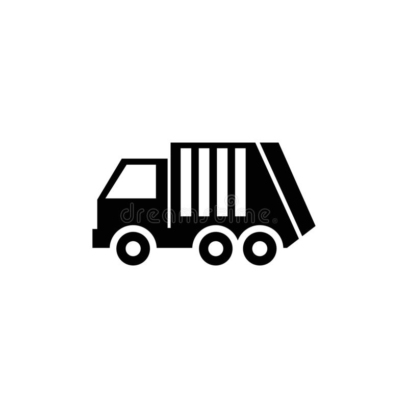 Śmieciarska ładowacz ciężarówka, Sanitarna pojazdu wektoru ikona ilustracja wektor