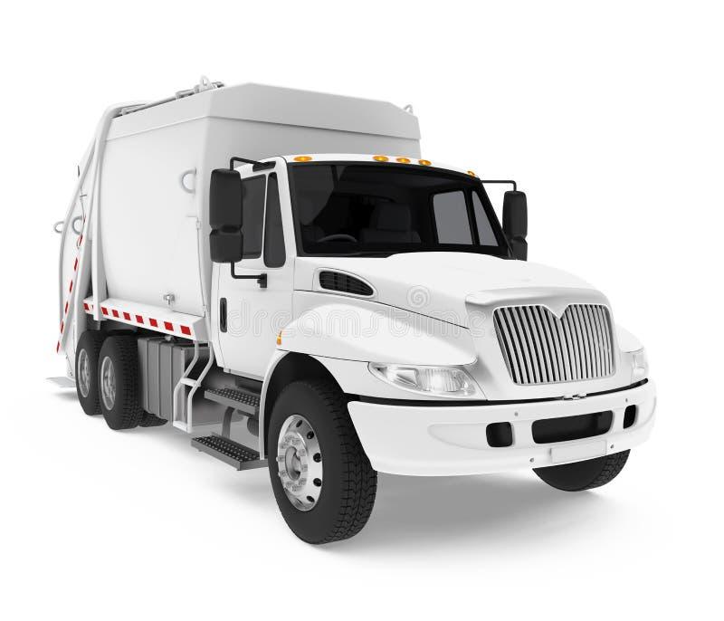 Śmieciarska ciężarówka Odizolowywająca royalty ilustracja