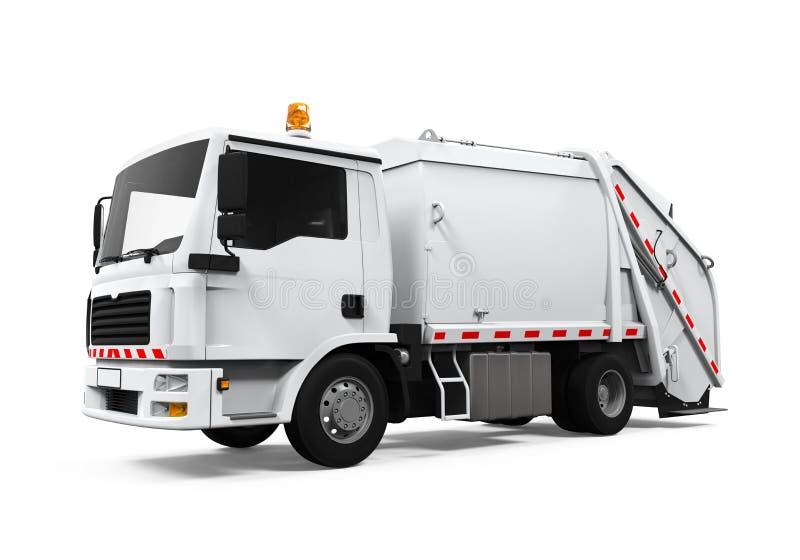 Śmieciarska ciężarówka Odizolowywająca ilustracji