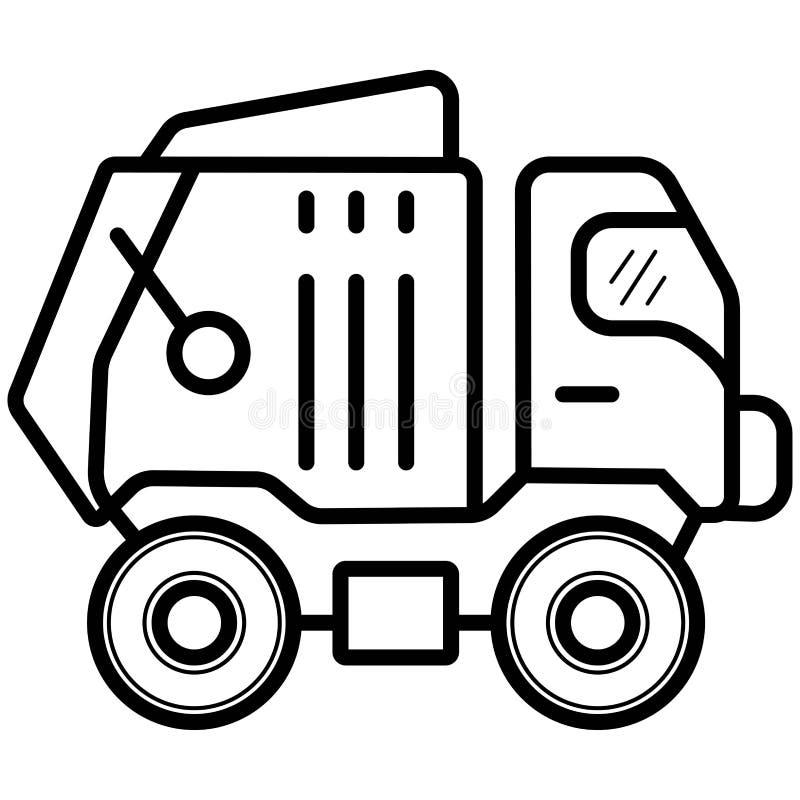 Śmieciarski samochód przetwarza ikona wektor royalty ilustracja