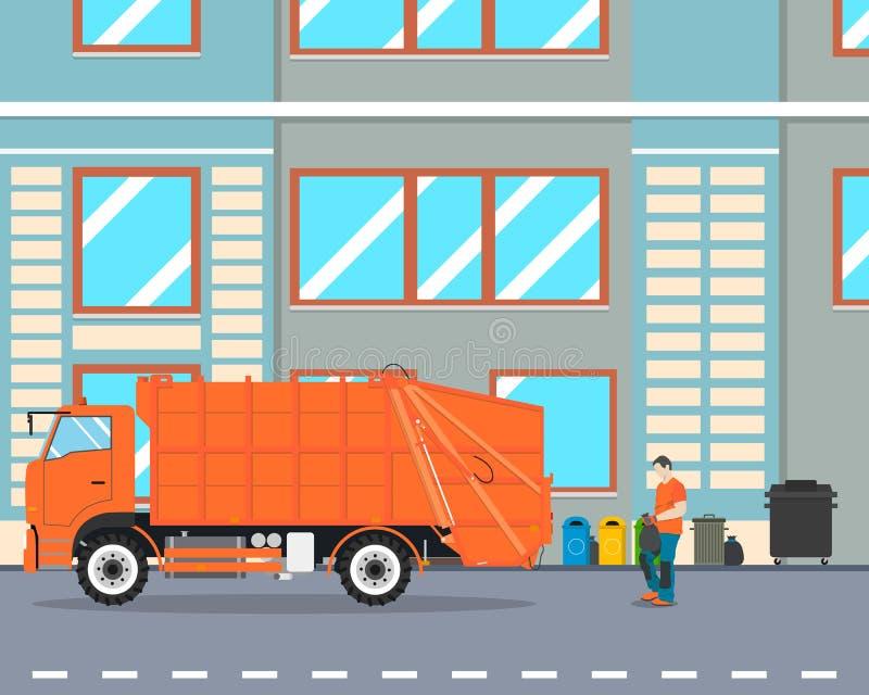 Śmieciarski usunięcie ilustracji
