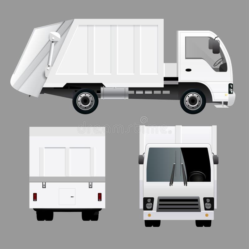 Śmieciarskiego usuwania ciężarówka ilustracja wektor