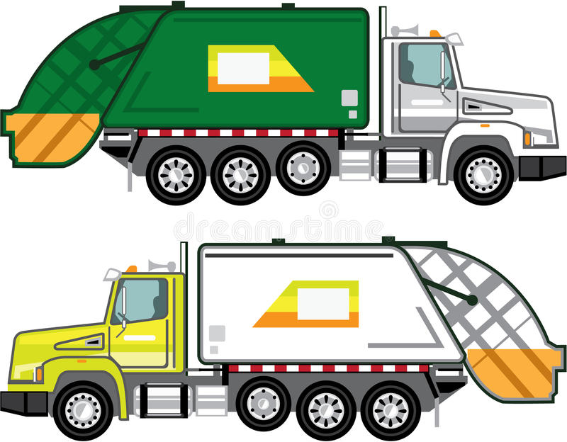 Śmieciarskiej ciężarówki kartoteka ilustracja wektor