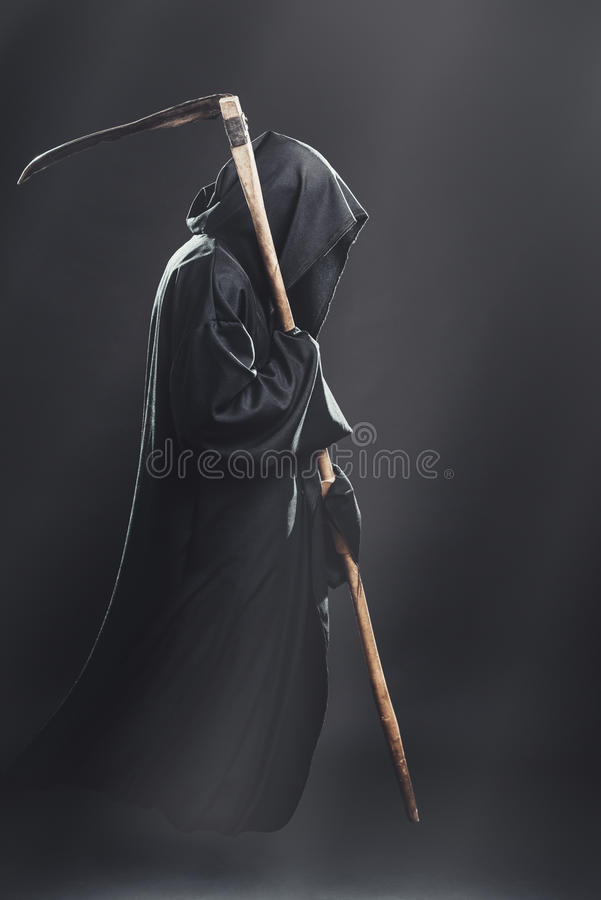 Śmierć z kosy fliesin mgła zdjęcie royalty free