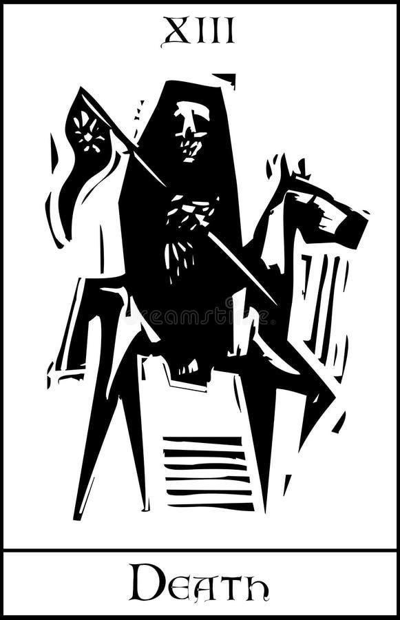 Śmiertelna Tarot karta ilustracja wektor