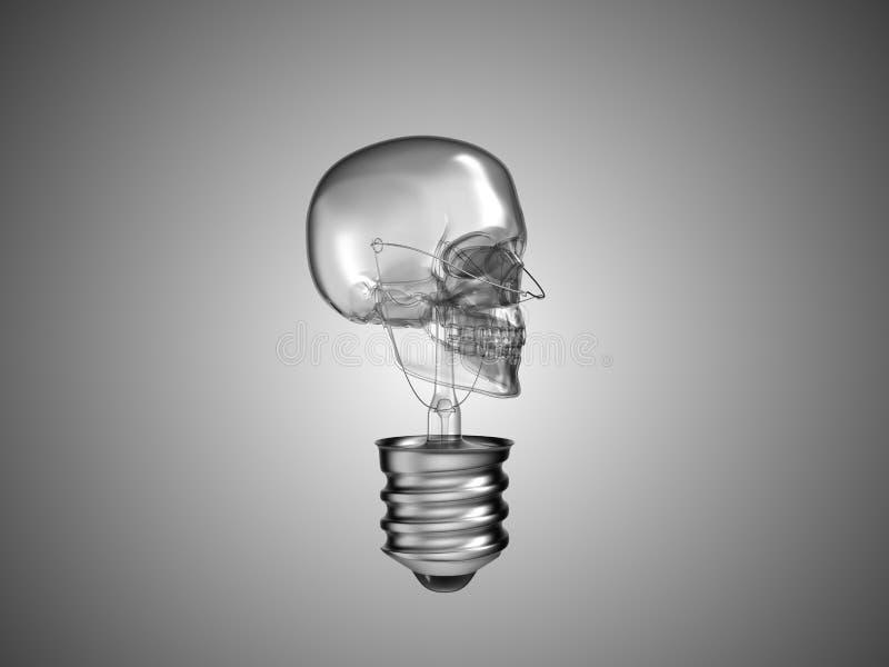 śmiertelna zdrowie lightbulb czaszka obrazy royalty free
