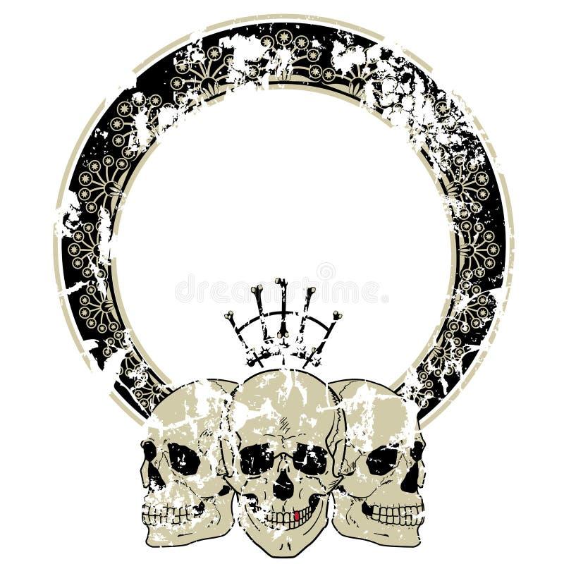 Śmiertelne ` s głowy ilustracja wektor