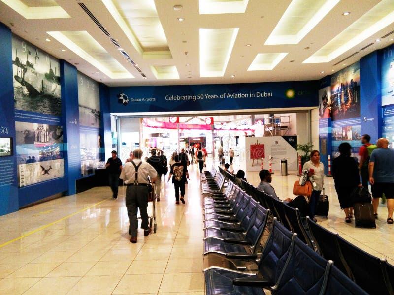 Śmiertelnie Dubai International lotnisko obraz royalty free