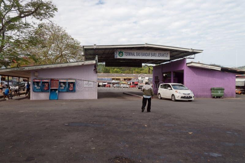 Śmiertelnie przystanek autobusowy w Jerantut. Malezja obrazy royalty free