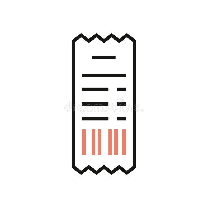 Śmiertelnie punktu sprzedaży ikona z NFC zapłatą podpisuje wewnątrz minimalnego modnego styl ilustracji
