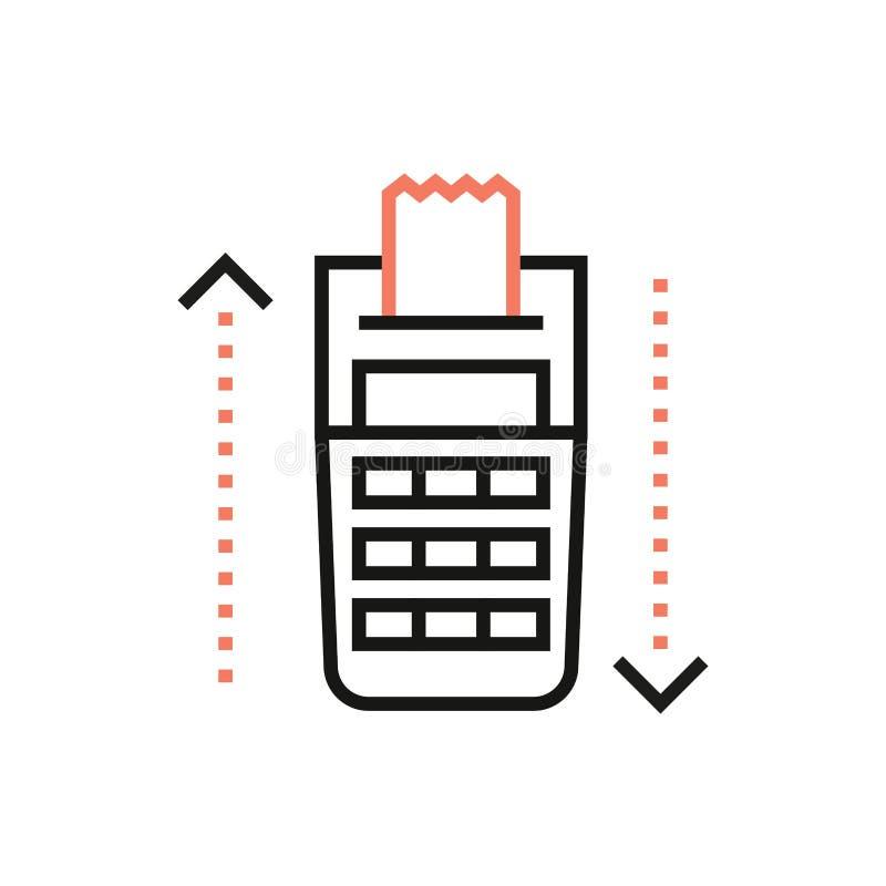 Śmiertelnie punktu sprzedaży ikona z NFC zapłatą podpisuje wewnątrz minimalnego modnego styl ilustracja wektor