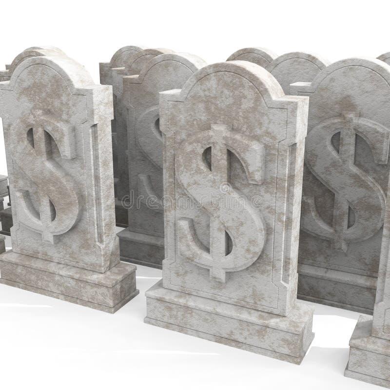 śmiertelny dolar ilustracja wektor