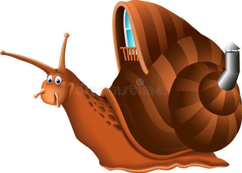Śmieszna ślimaczek kreskówka royalty ilustracja