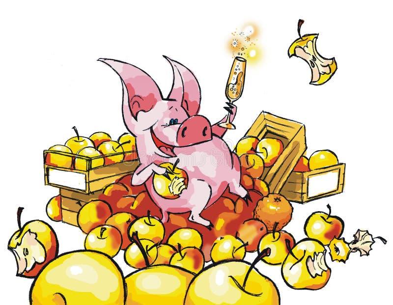 Śmieszna świnia ilustracja wektor
