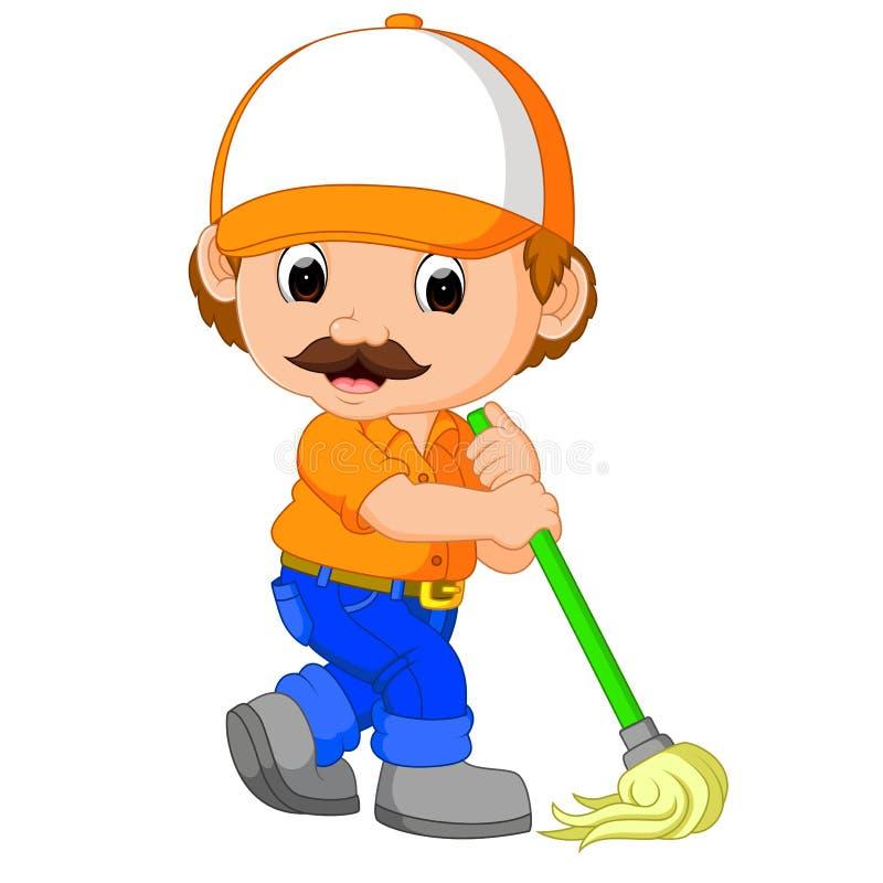 Śmieszna cleaning usługa royalty ilustracja