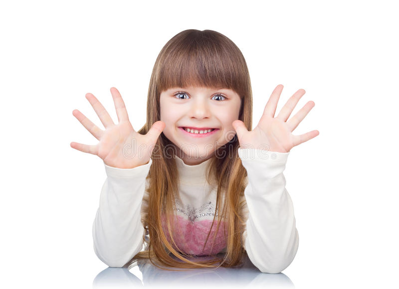śmieszna dziewczyna zdjęcie royalty free