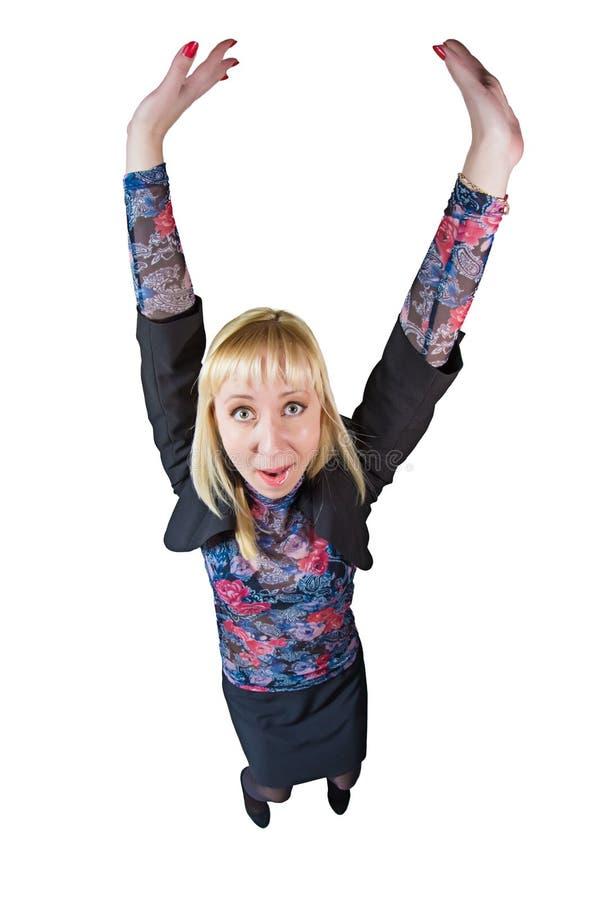 Śmieszna dziewczyna w kostiumu obrazy royalty free