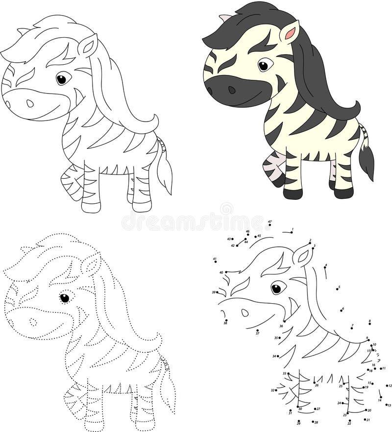 Śmieszna i śliczna zebra ilustracji