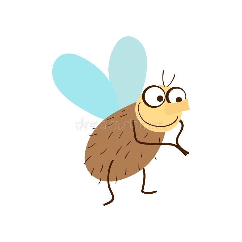 Śmieszna komarnicy kreskówki wektoru ilustracja ilustracji