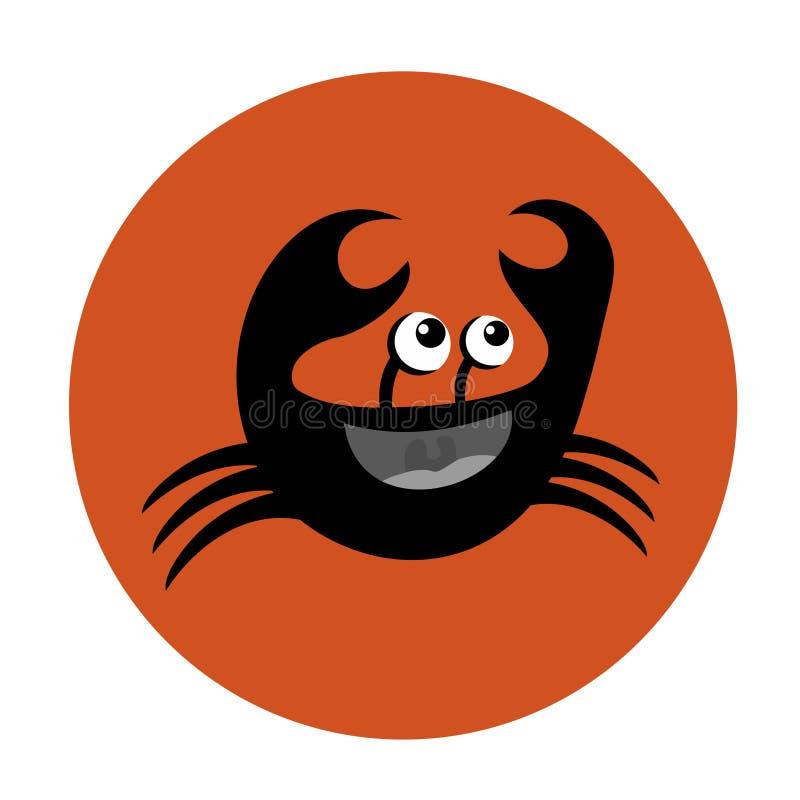 śmieszna krab ikona ilustracji