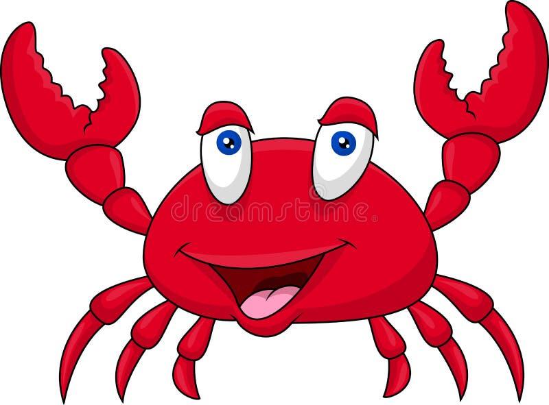 Śmieszna krab kreskówka ilustracja wektor