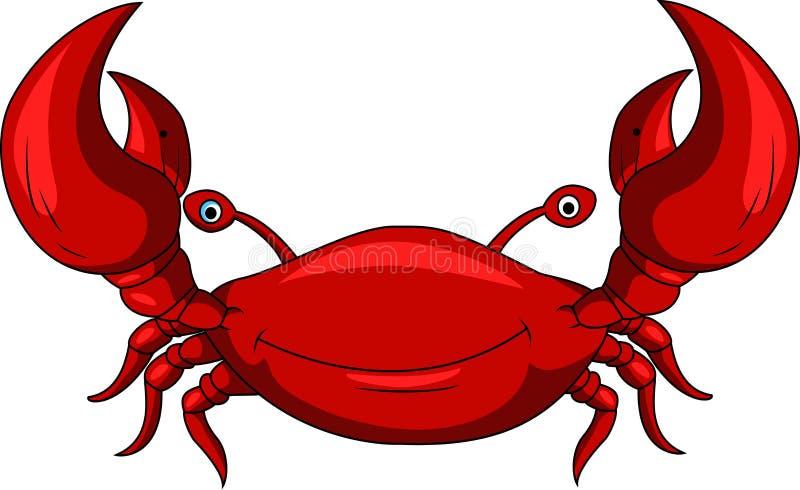Śmieszna krab kreskówka royalty ilustracja