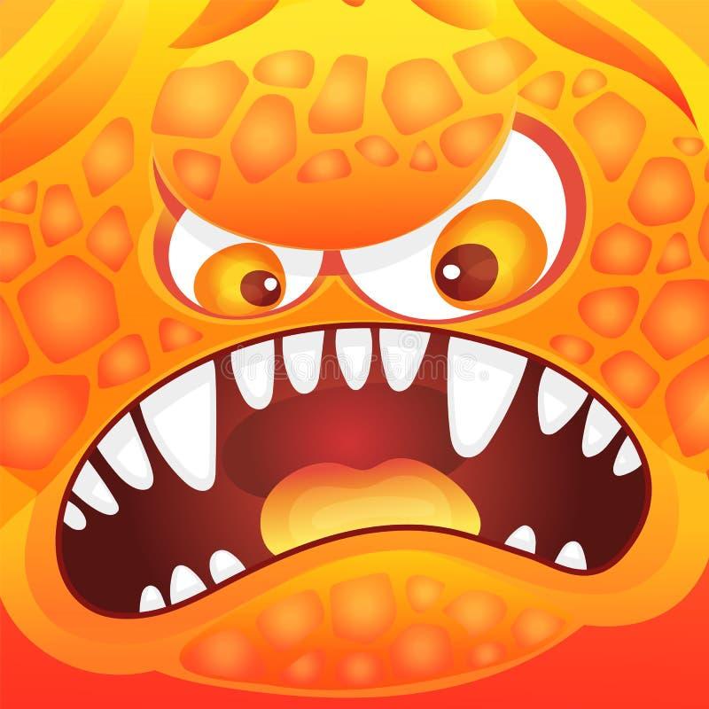 Śmieszna kreskówka potwora, obcego emocja lub wektorowa ilustracja ilustracji