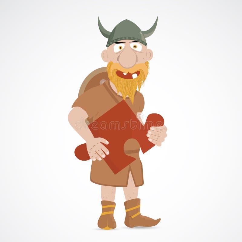 Śmieszna kreskówka Viking royalty ilustracja
