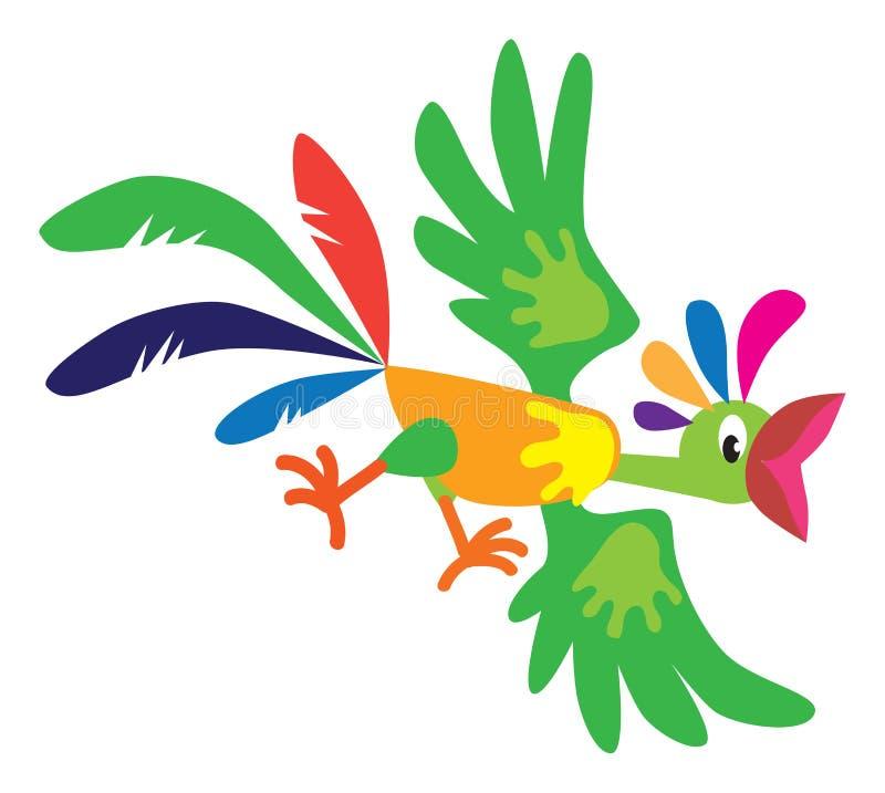 Śmieszna latająca papuga royalty ilustracja