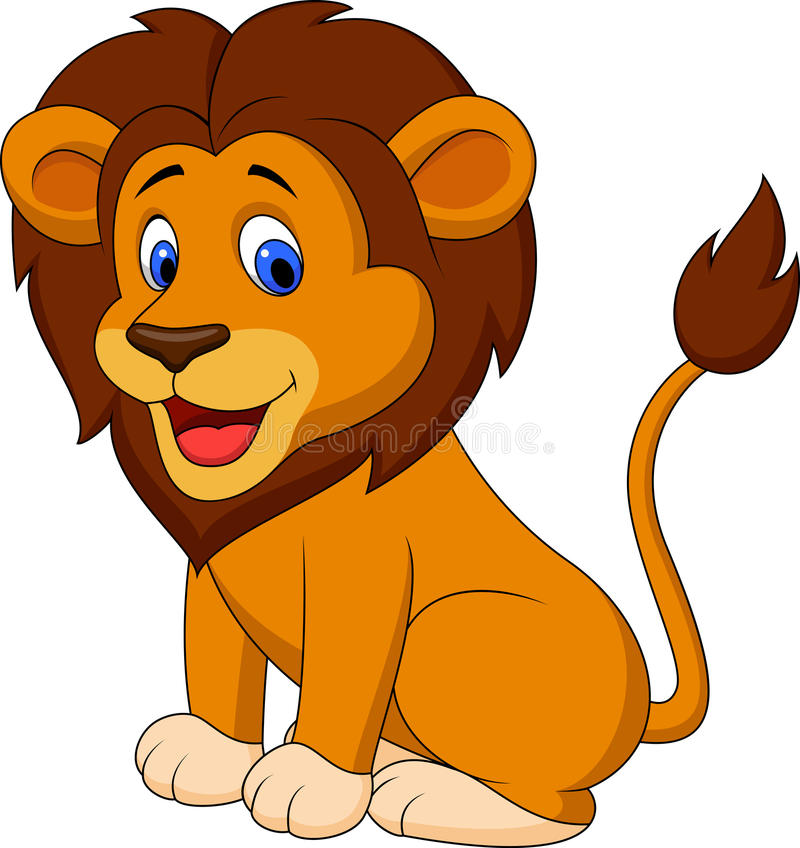 Śmieszna lew kreskówka ilustracji