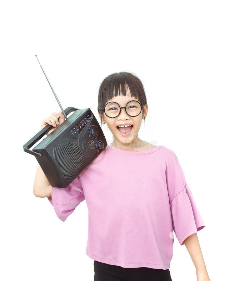 Śmieszna muzyczna dziewczyna zdjęcia stock