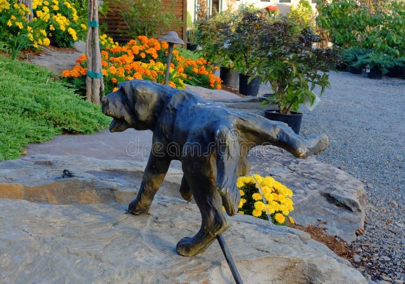 Śmieszna Ogrodowa statuy fontanna fotografia royalty free