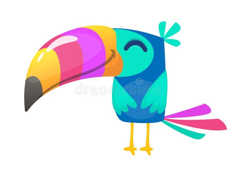 Śmieszna pieprzojad kreskówka Wektorowa ptasia ilustracja ilustracja wektor