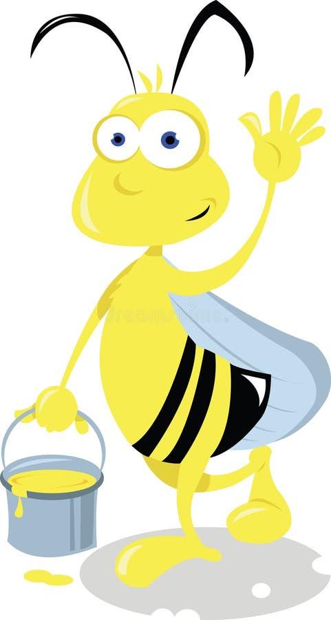 Śmieszna Pszczoła ilustracji