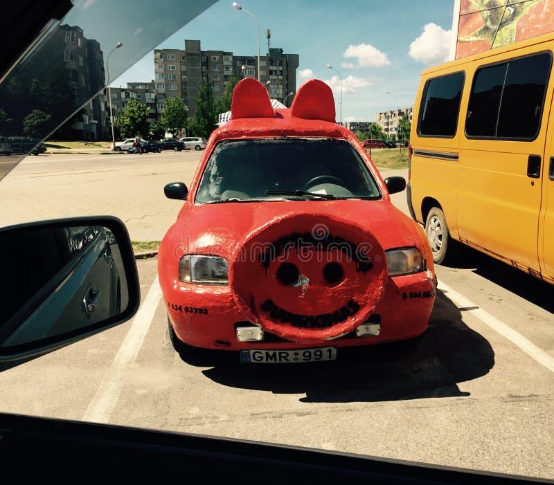 Śmieszna samochodowa świnia obraz stock