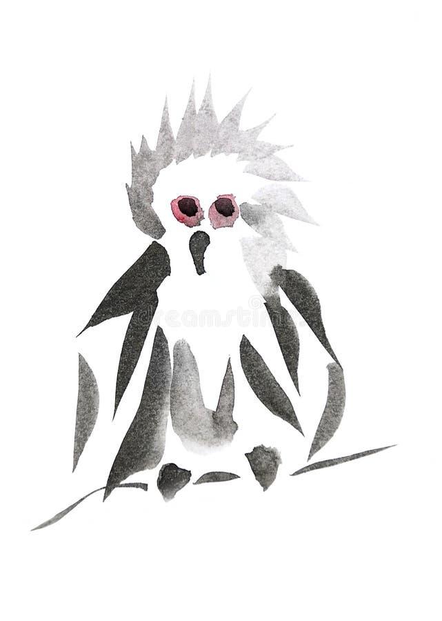 śmieszna sowa ilustracja wektor