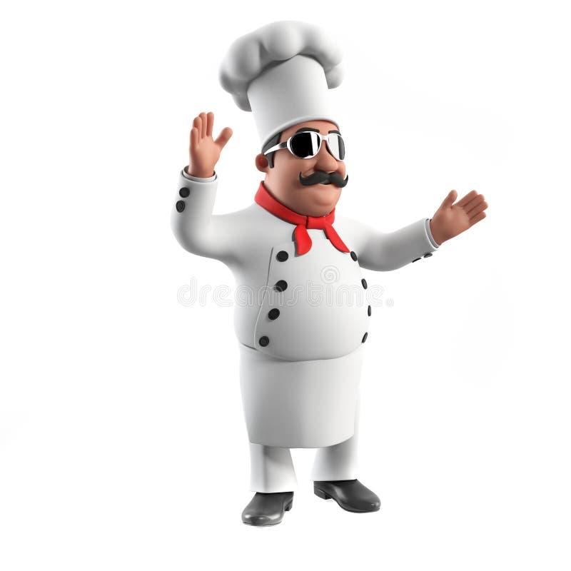 śmieszna szef kuchni kuchnia ilustracji