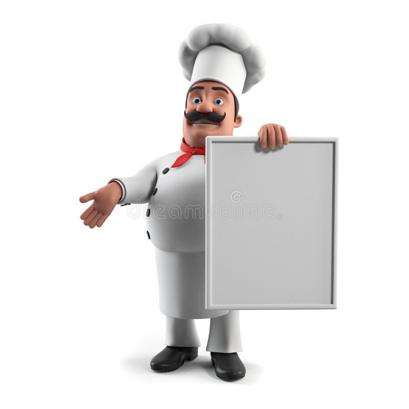 śmieszna szef kuchni kuchnia royalty ilustracja