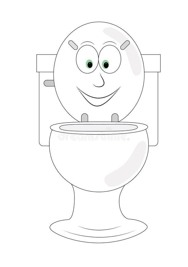 Śmieszna toaleta obrazy stock
