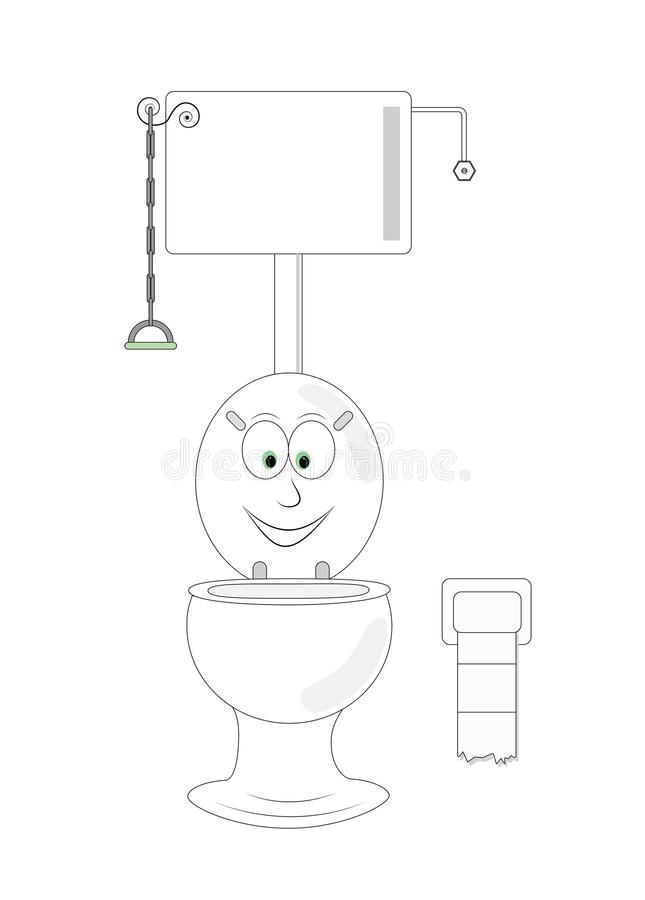 Śmieszna toaleta zdjęcie stock